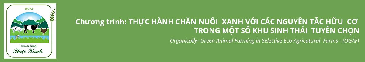 Trang thông tin của Chương trình Chăn nuôi thực xanh OGAF
